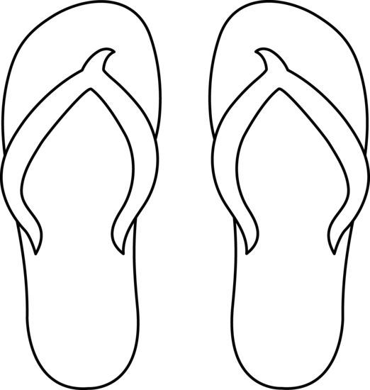 clipart royalty free download Flip Flops Clipart Black And White