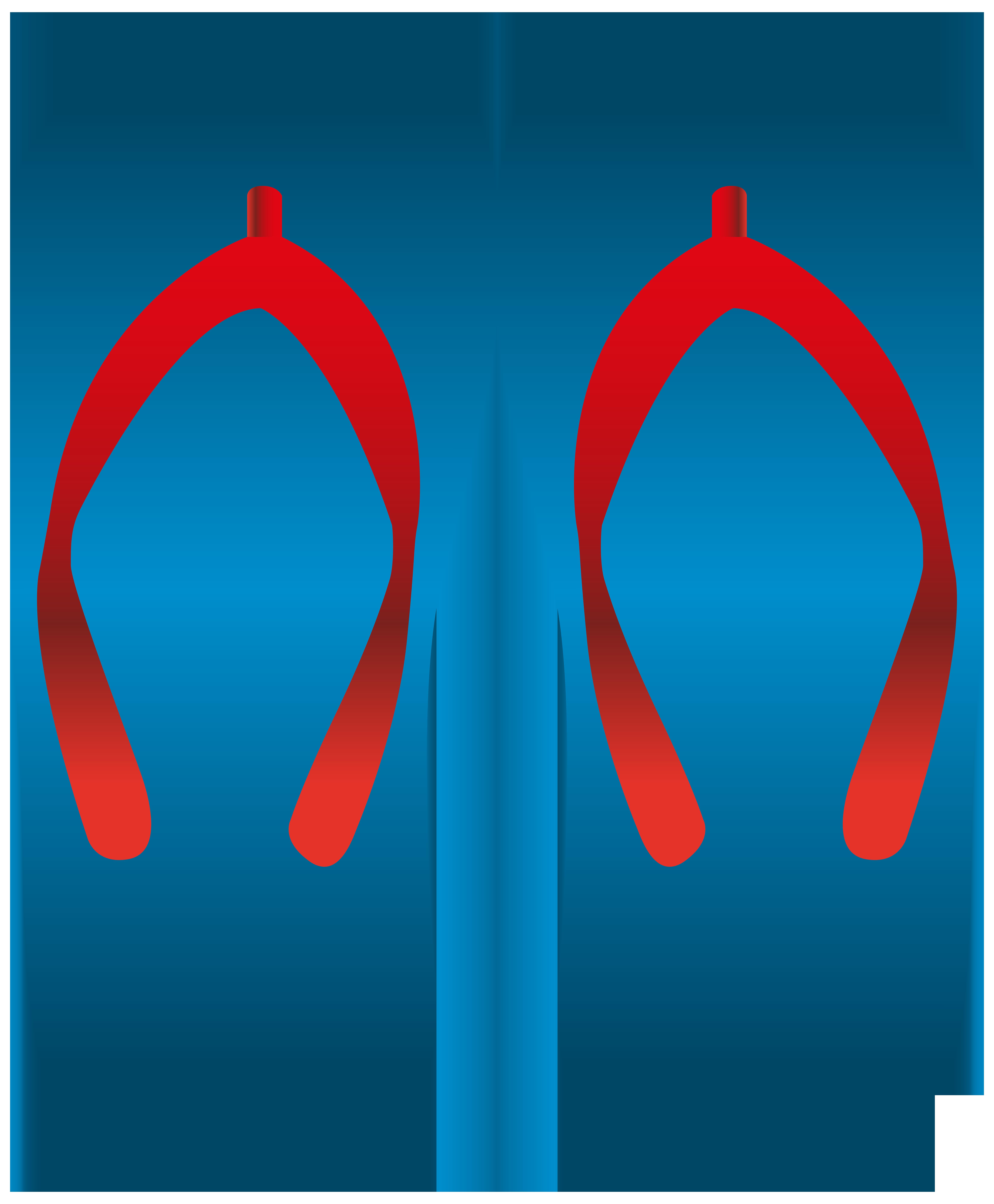 vector royalty free download Flip flops clipart. Blue png clip art.