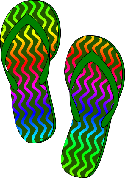 vector freeuse stock Flip flops clipart. Flop black and white.