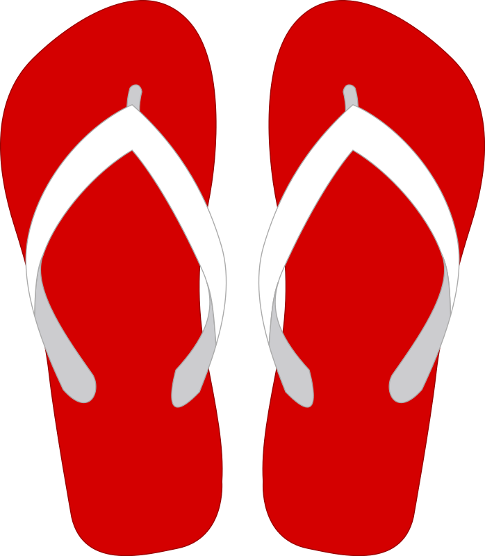 png royalty free library Red Flip Flop Clipart