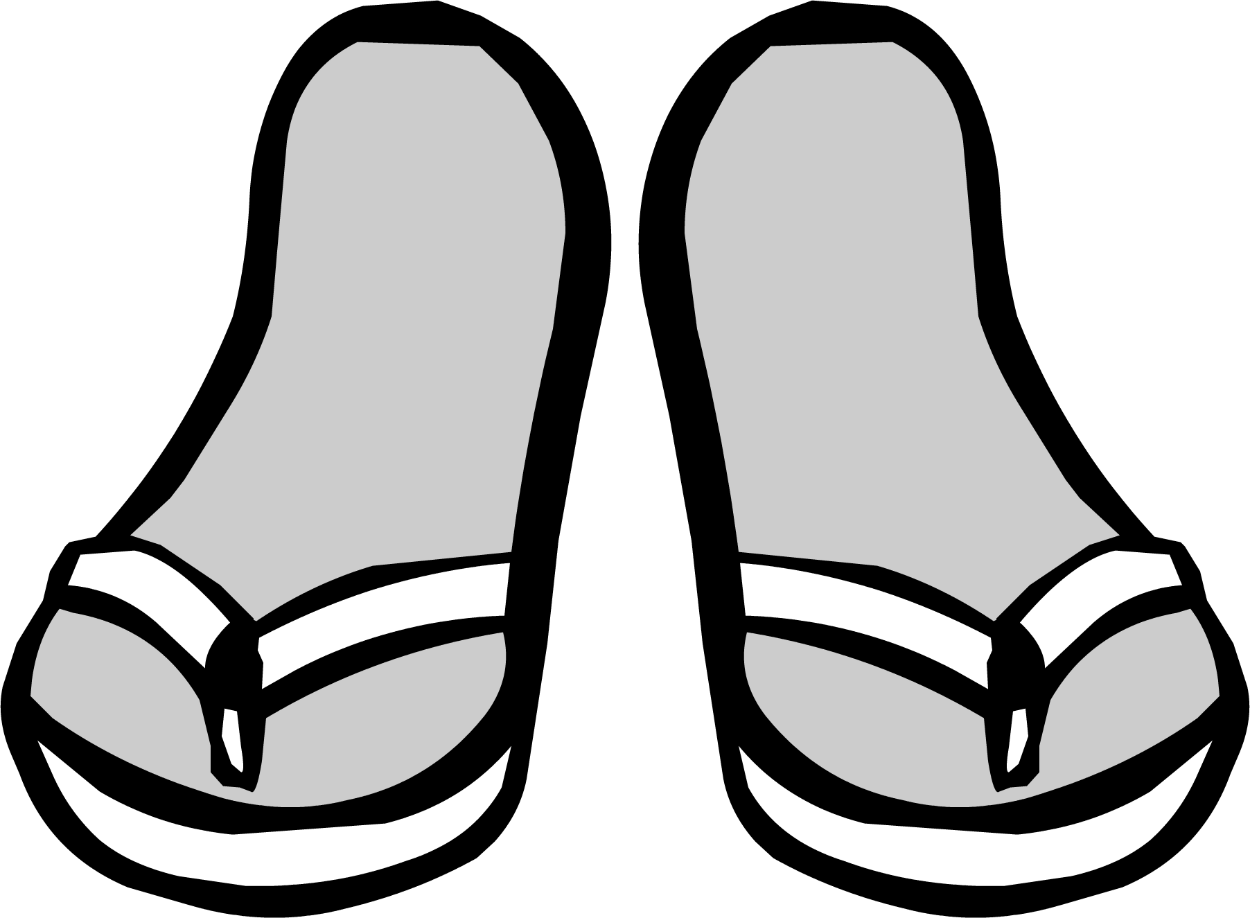 svg royalty free stock Flip flops clipart clothing item. White sandals club penguin