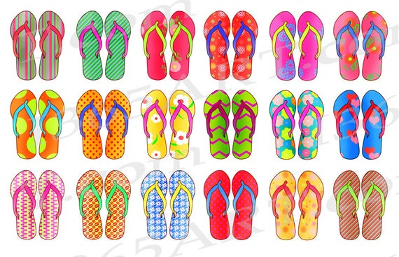 jpg transparent library Flip flops clipart clothing item.  off sandals clip