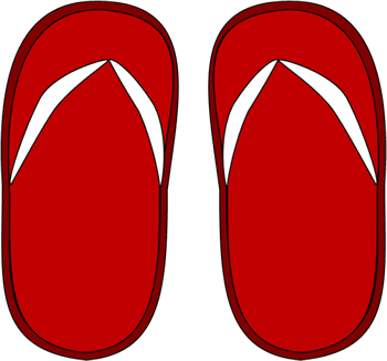image free library Red Flip Flops Clip Art Image