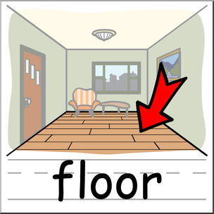 graphic Floor clipart. Clip art basic words