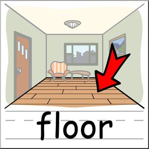 graphic Floor clipart. Clip art basic words.