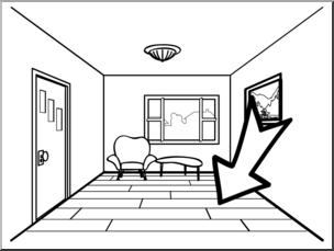 vector library library Clip art basic words. Floor clipart.