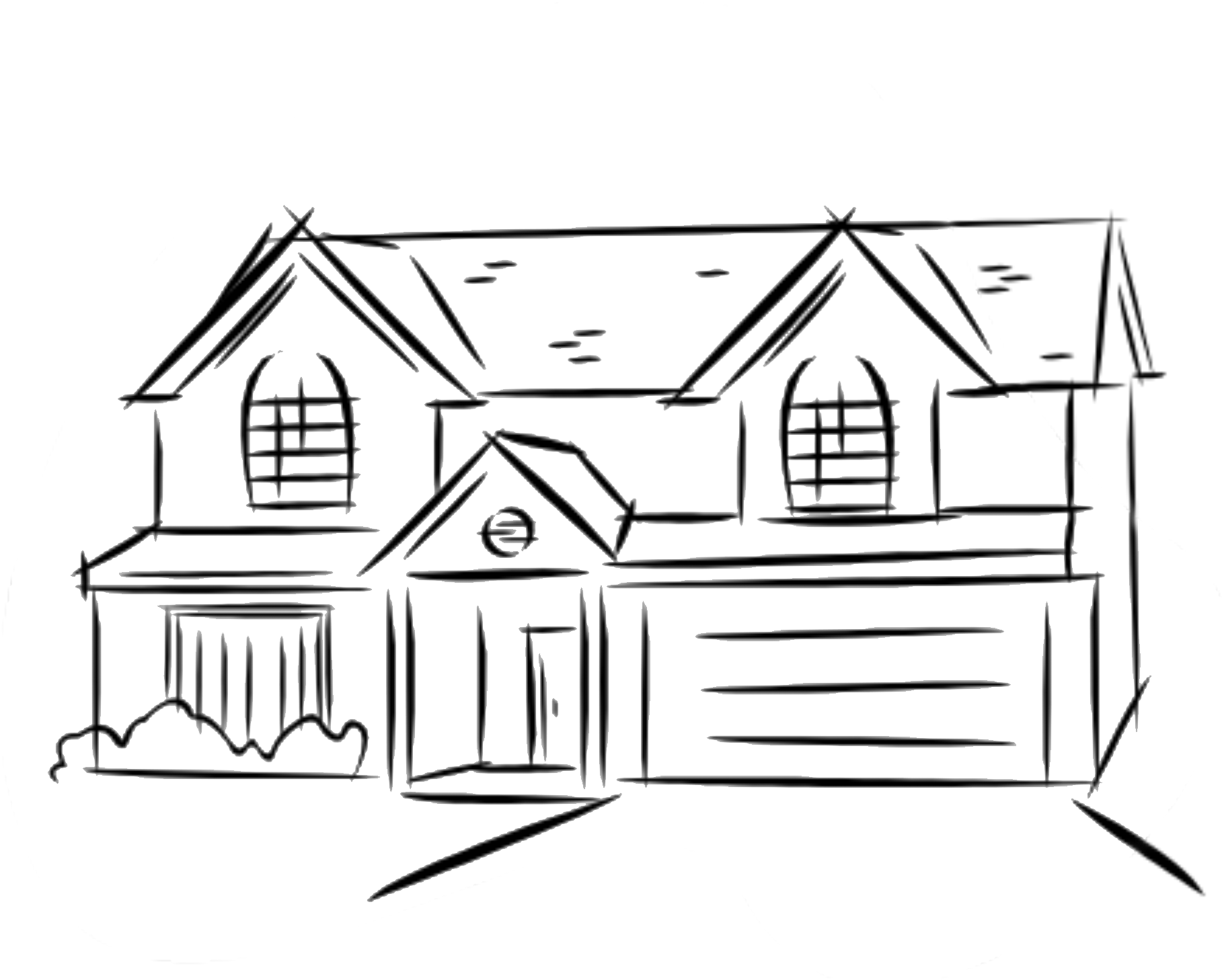 png black and white download Drawing sticks hut. Two story house at