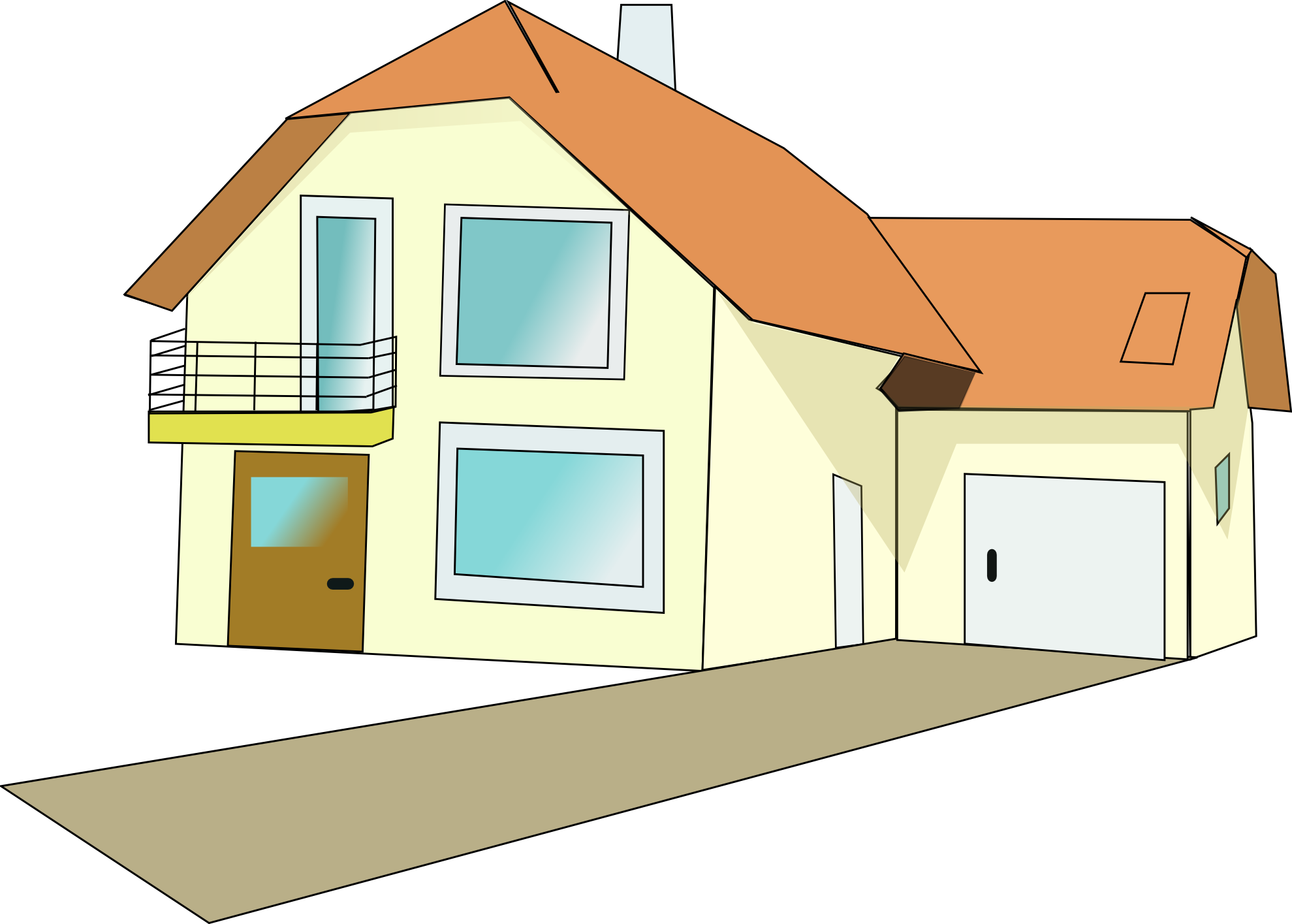 png free stock Story house clip art. Mansion vector two