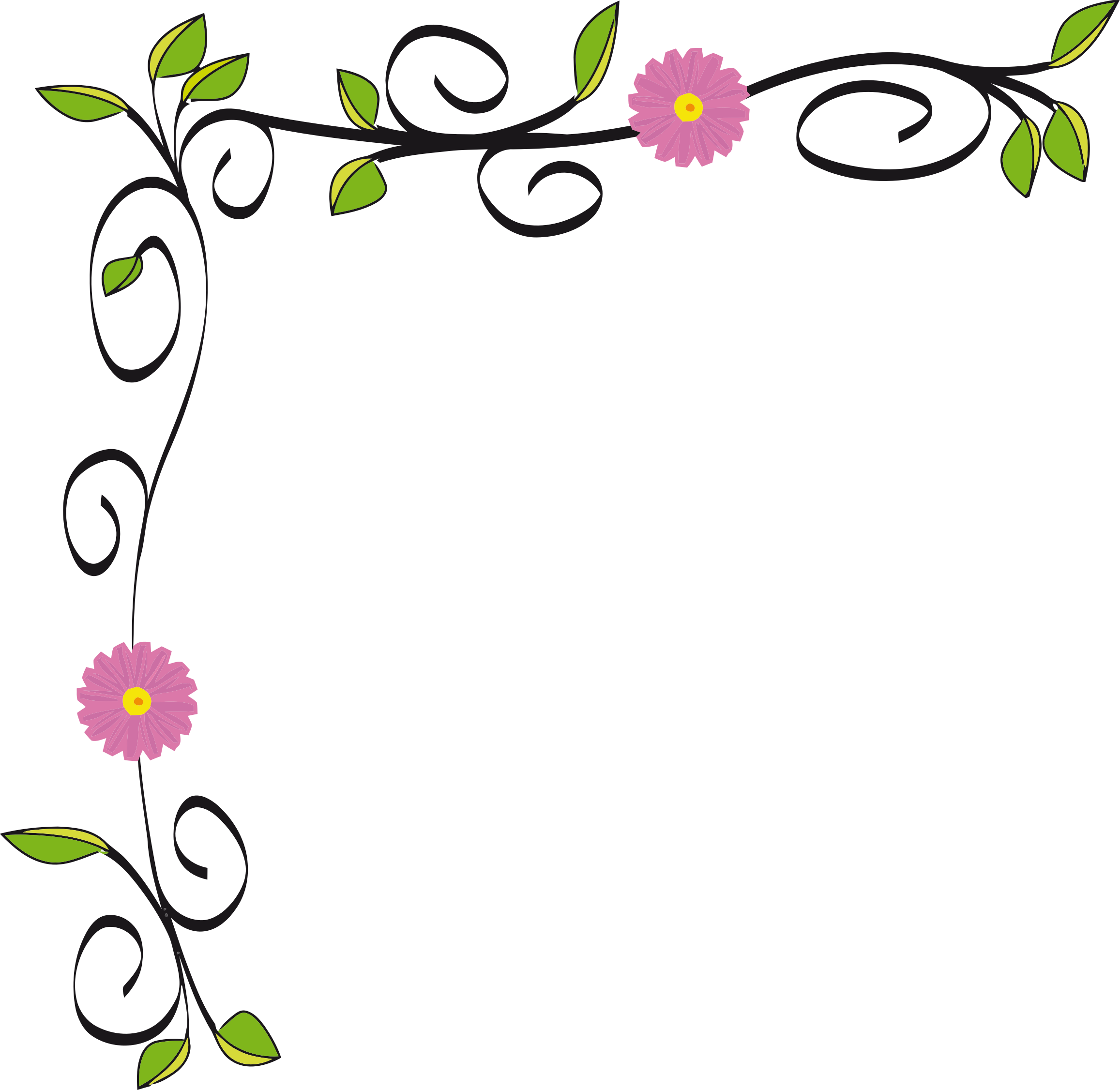graphic free stock Floral Border Vectorized by GDJ