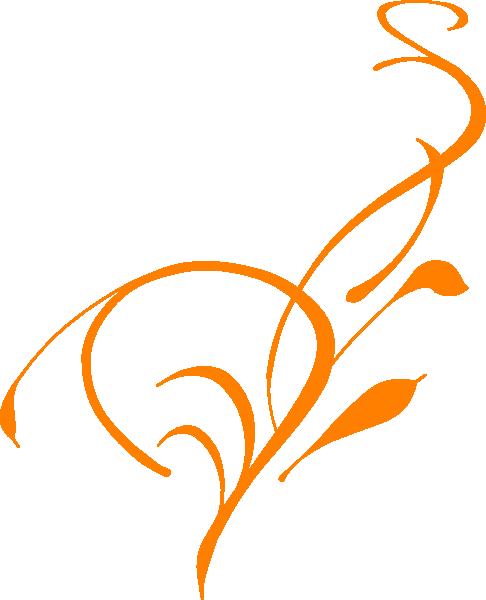 clip Border orange clip art. Floral borders clipart