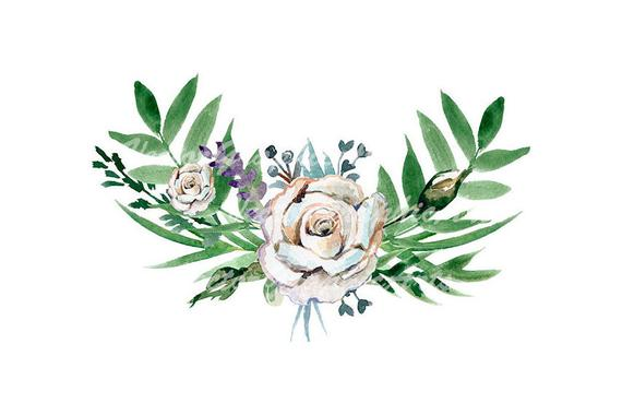 graphic free stock Bouquet of white roses. Floral clipart.