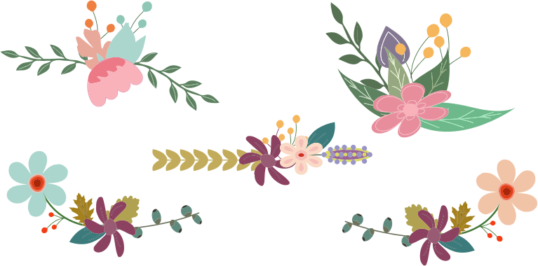 jpg royalty free Vintage elements medium image. Floral clipart.