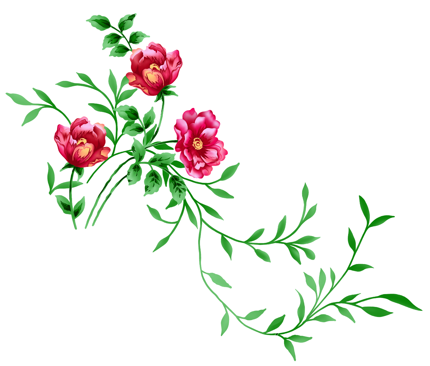 graphic stock Floral clipart. Red decor png transparent.