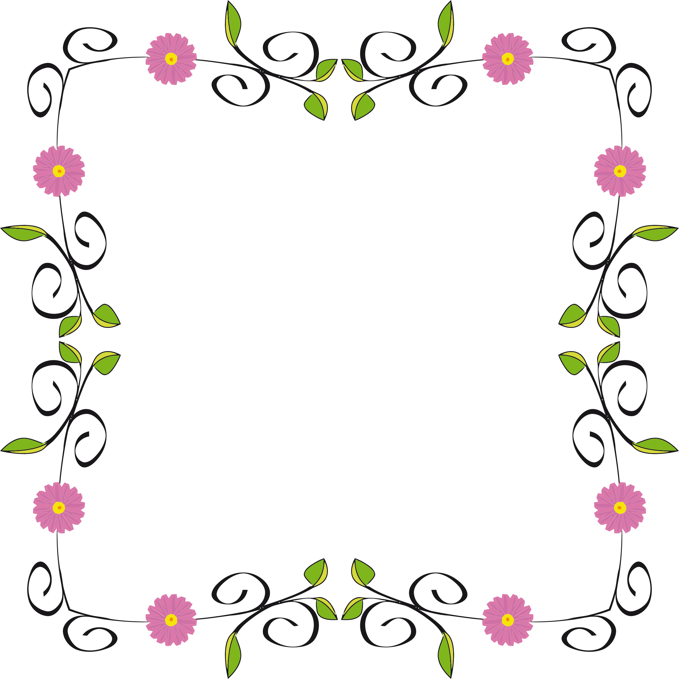 image library Floral borders clipart. Border extended big image