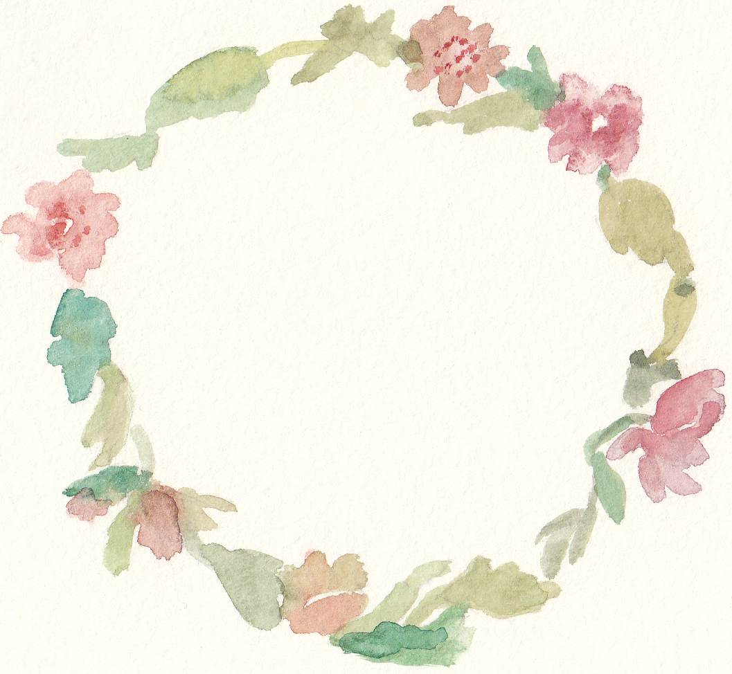 vector transparent library Floral wreath clipart. Free watercolor clip art