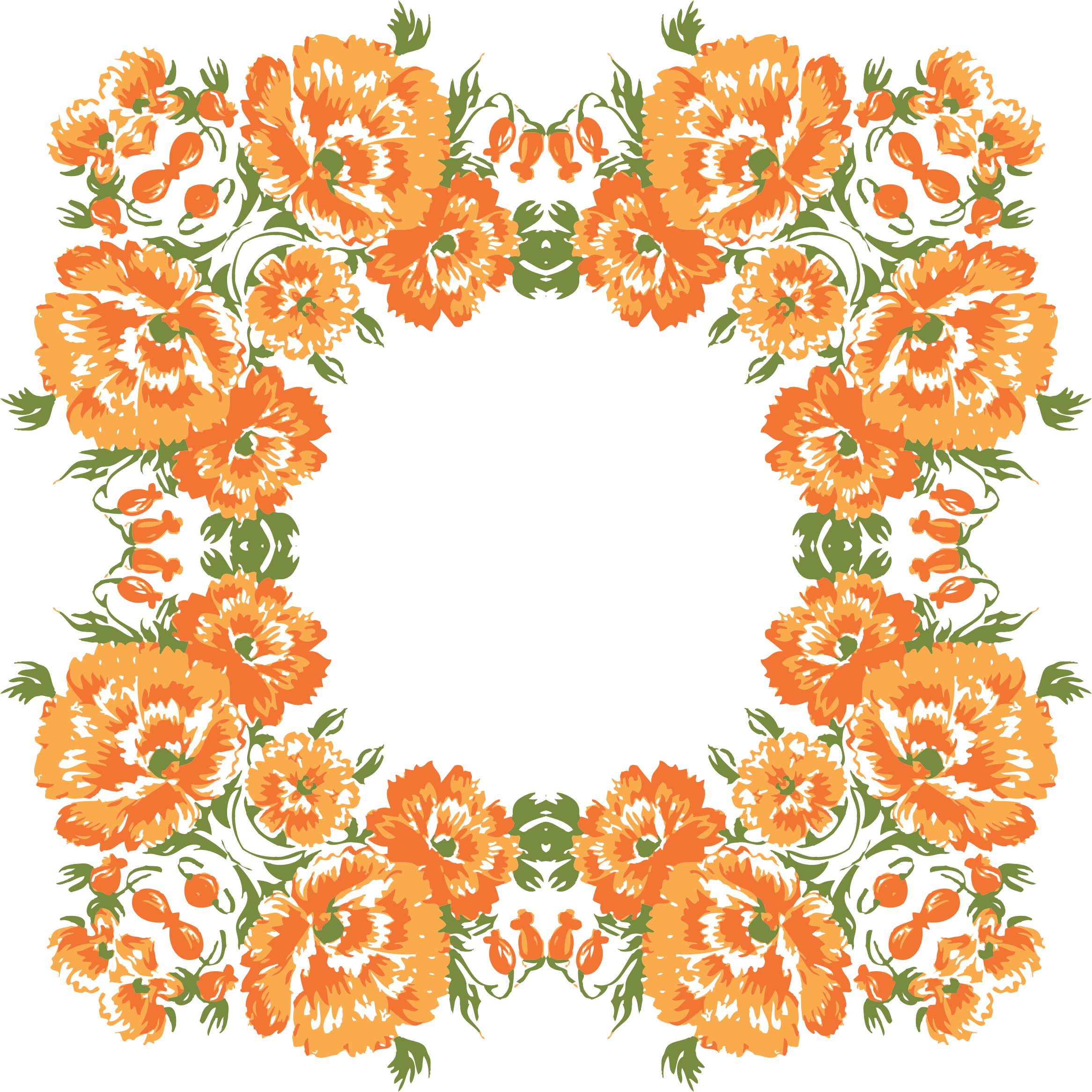 transparent stock Floral wreath clipart. Frame big image png