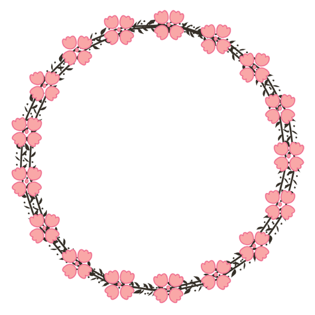 vector Floral wreath clipart black and white. Beautiful pink save the