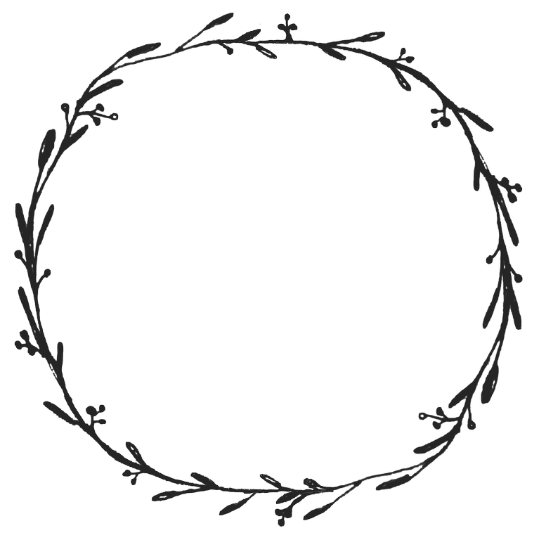 image transparent Floral wreath clipart black and white. Dropbox free graphics diy