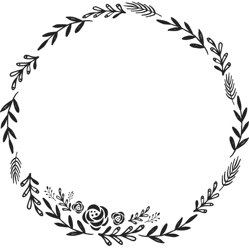 clip art free stock Image result for how. Floral wreath clipart black and white