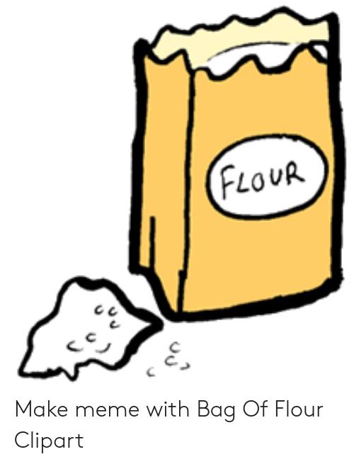 clip download Make meme with bag. Flour clipart.