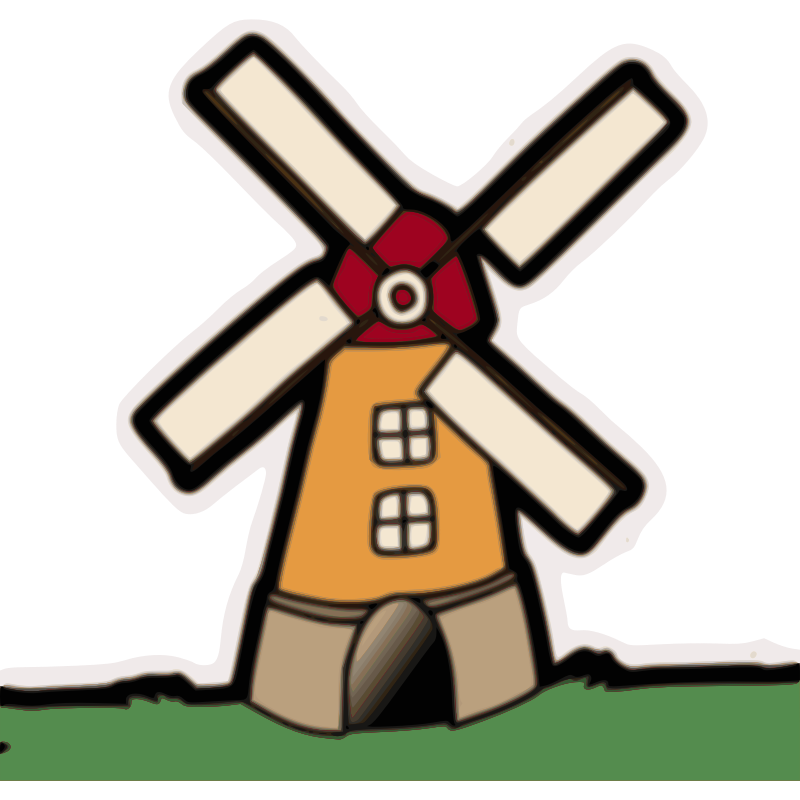 clip royalty free download Flour clipart. Windmill group clip art.