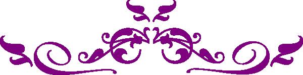 banner transparent library Purple horizontal swirl clip. Vector dividers minimalist