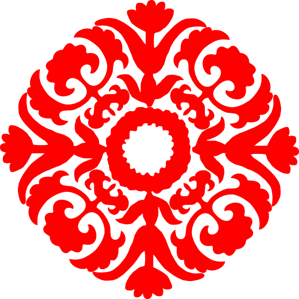 svg freeuse download Red Damask Ornament Clip Art at Clker
