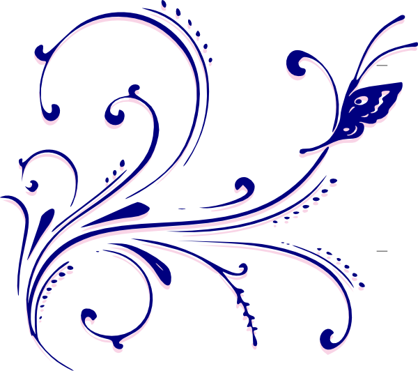clipart free Flourishes clipart. Butterfly flourish clip art.