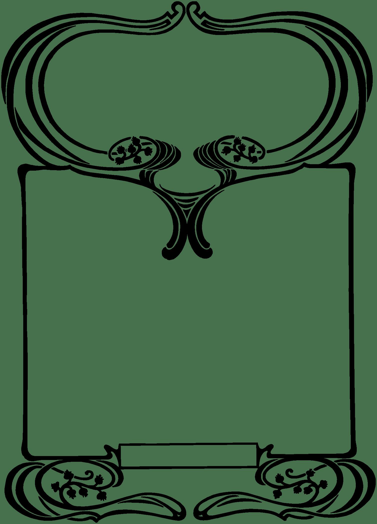 clip art transparent download Art nouveau clipart. Royalty free stock vector