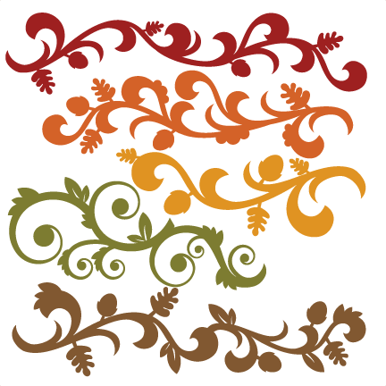 clip freeuse library Fall Flourish Set SVG cutting file for scrapbooking autumn svg cut
