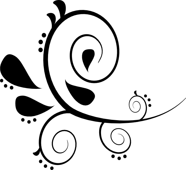 picture black and white stock Flourishes clipart. Free flourish download clip.