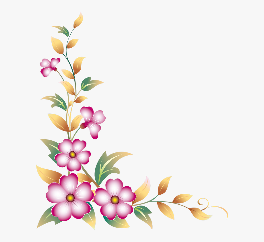 graphic transparent download Flower borders clipart. Horizontal border corner