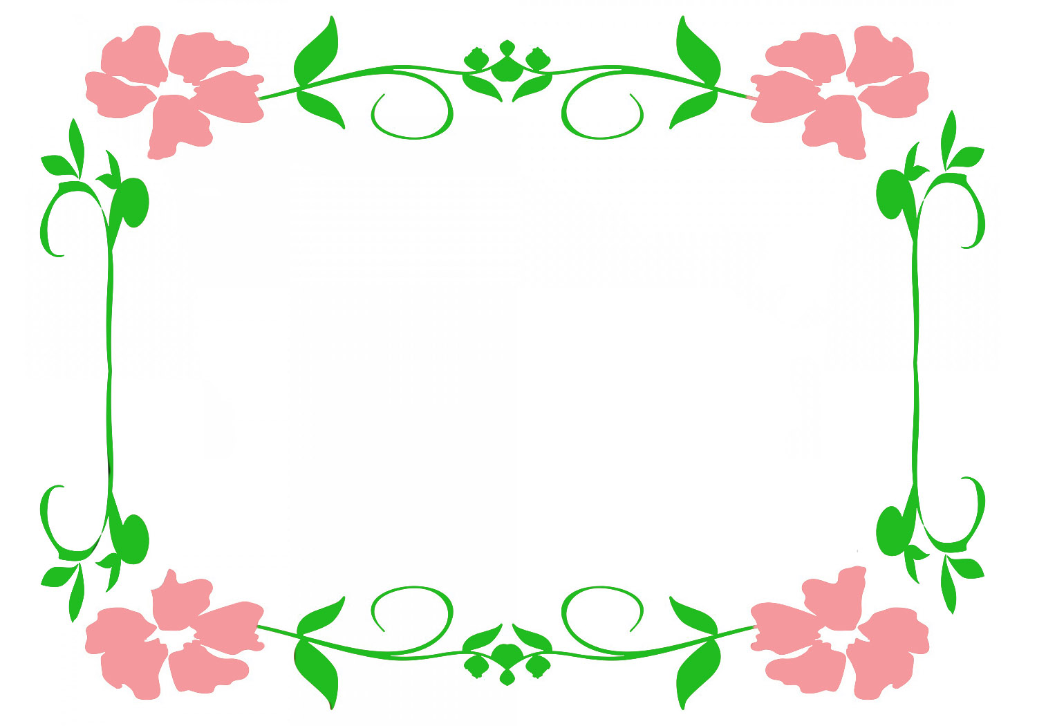 image stock And frames . Flower borders clipart