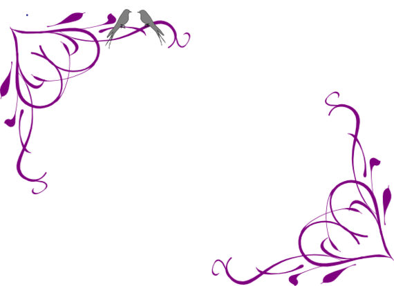 black and white library Purple border design to. Free flower clipart borders