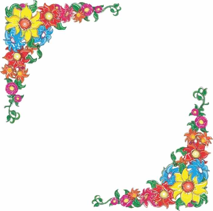 vector transparent download Free flower borders clipart. Download clip art