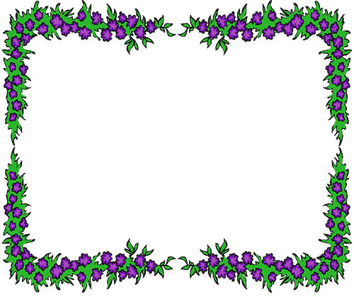 svg freeuse Border . Free flower borders clipart