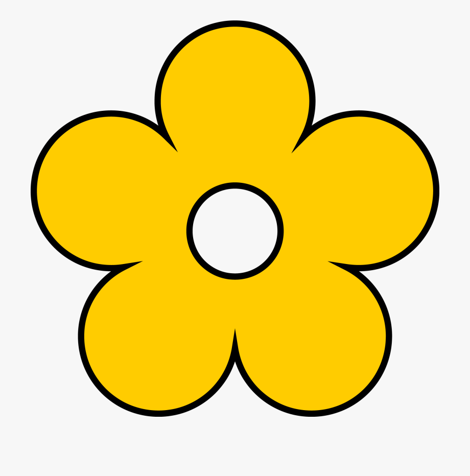 svg black and white download Yellow flowers image collections. Flower clipart.