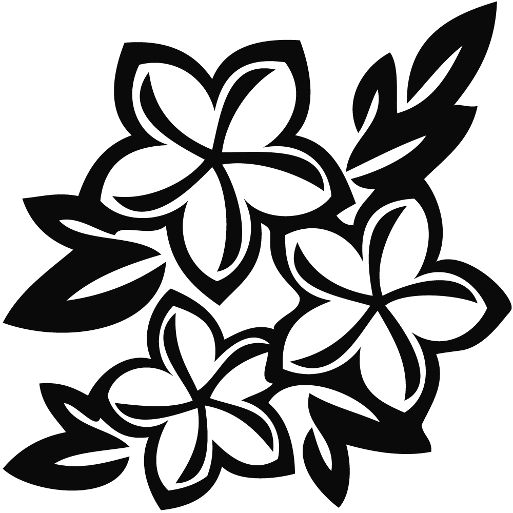 picture black and white library Flowers black and white. Flower clipart.