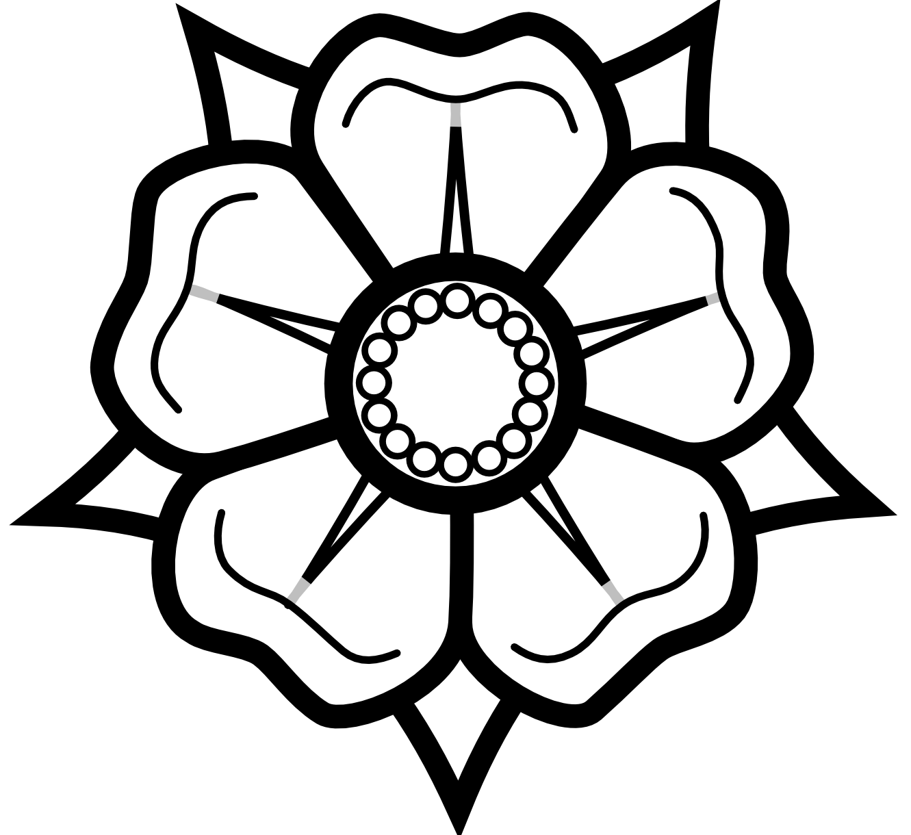 stock Black and white flower drawing png