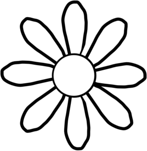 clip royalty free Free flowers . Flower clipart black and white