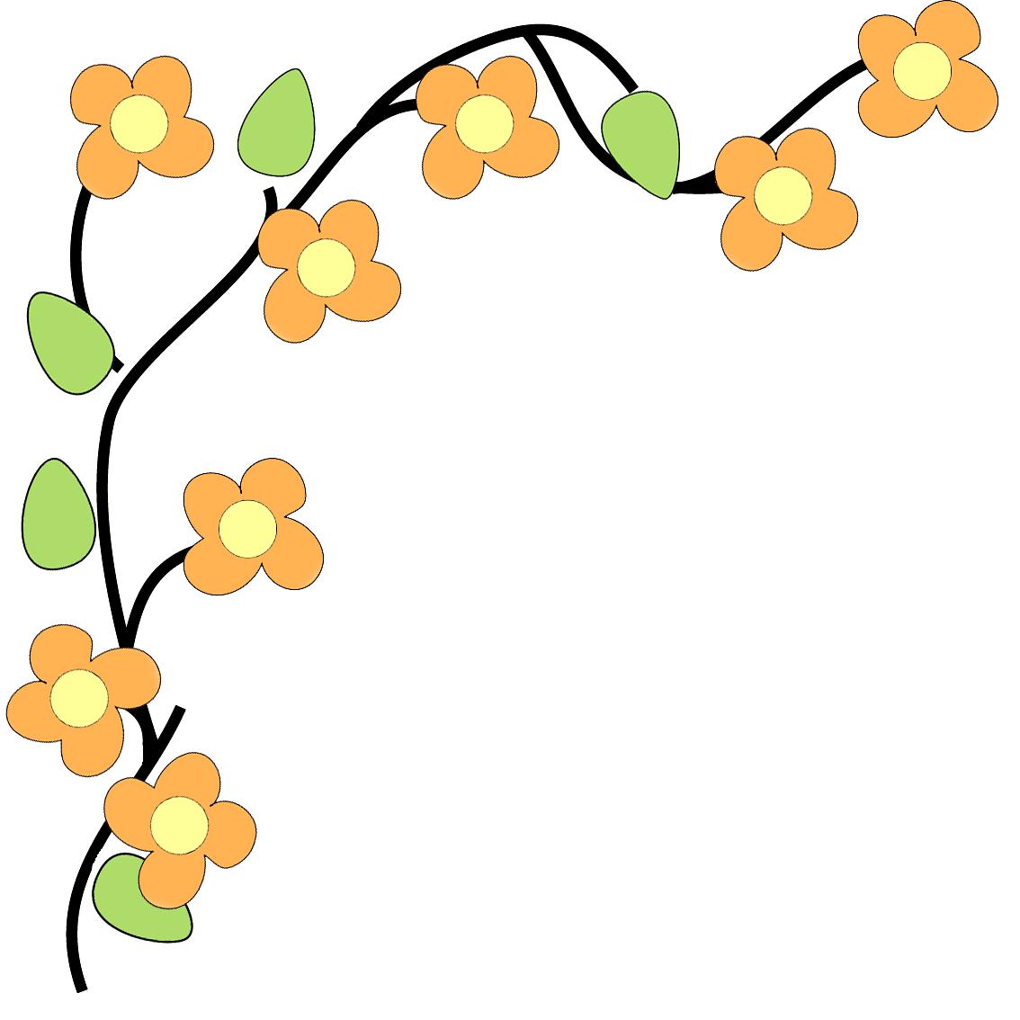svg black and white stock Free flower clipart borders. Border panda images flowerborderclipart