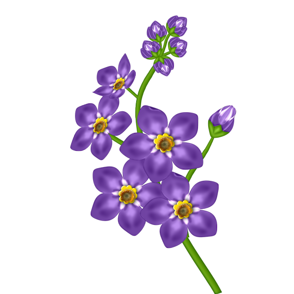 image black and white Purple Flower Free Clipart