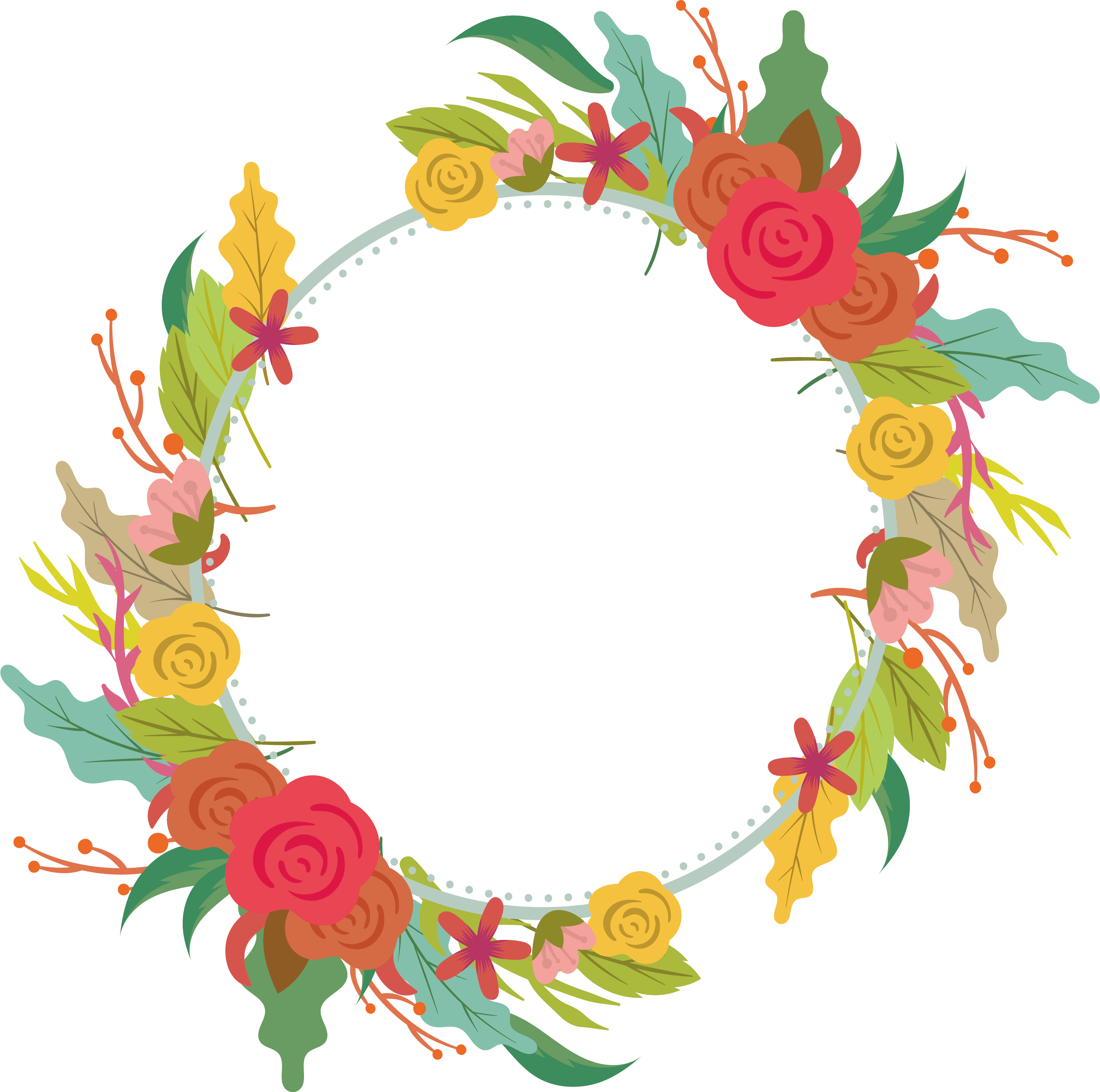 picture freeuse library Floral design Wreath Flower Garland