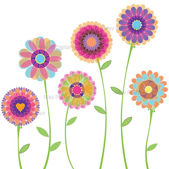 clip royalty free stock Spring clip art digital. Flowers clipart.