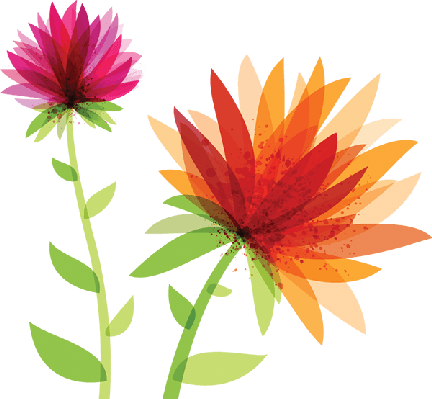 graphic royalty free library Spring the arts media. Flowers clipart.