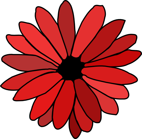 picture black and white download Red Flower Clip Art at Clker