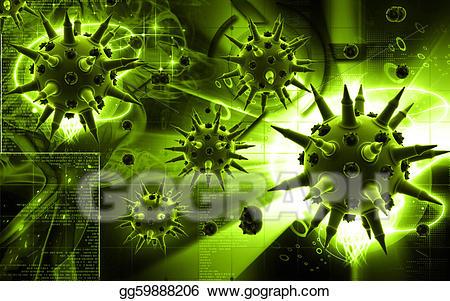 jpg freeuse stock Stock illustration gg gograph. Flu virus clipart