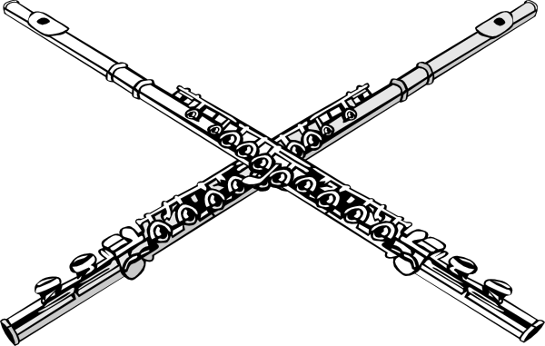 freeuse library Clip art at clker. Flutes clipart