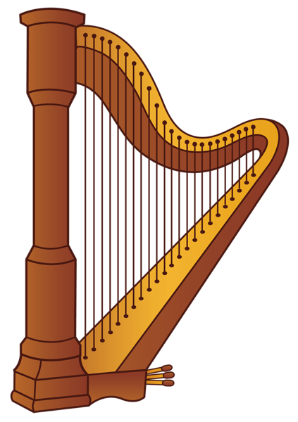 graphic royalty free Harp PNG Clipart Picture