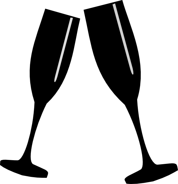 jpg transparent download Flutes clipart. Champagne flute silhouette at